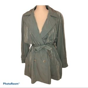 Gallery brand mint green trench coat Size XS